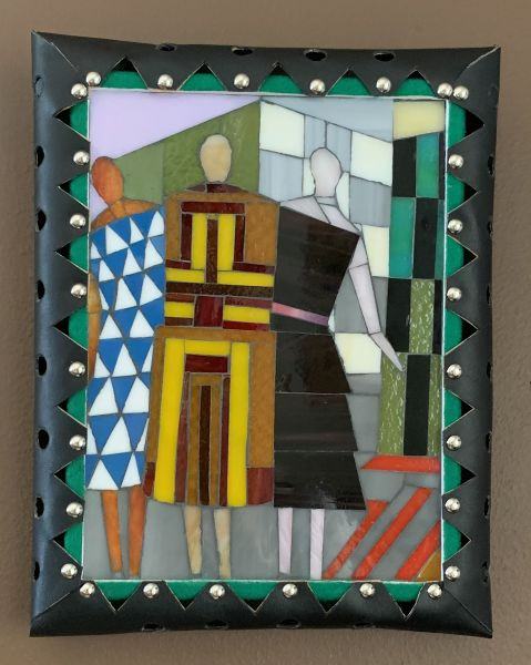 Simultaneous Dresses (Three Women, Forms, Colours) After Sonia Delaunay-Terk