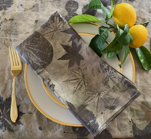 Ecoprinted linen