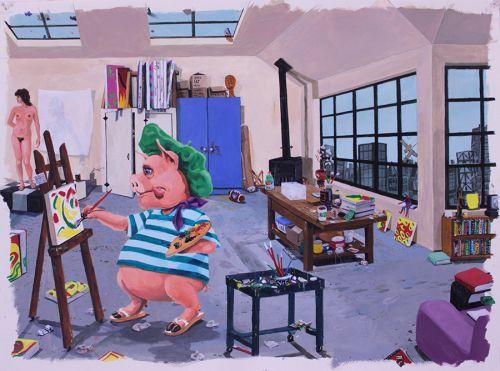 The Unfinished Portrait of Pablo Pig