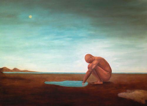 The Vulnerable Human: Squatting Man