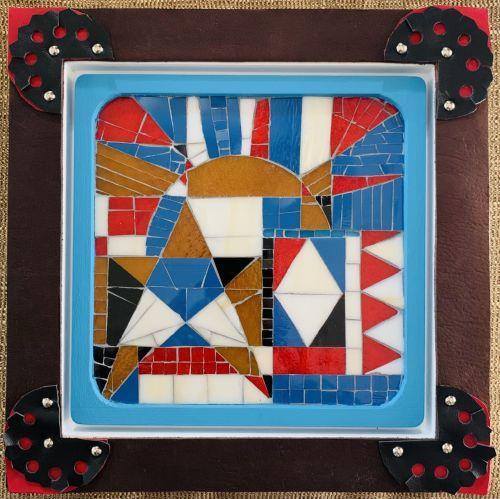 Torres-Garcia Circles and Squares Collection: The Sun/El Sol #3 of 4 Mosaics