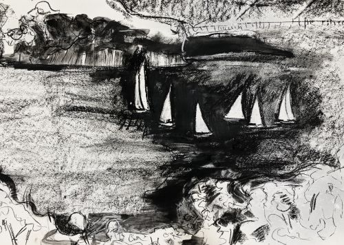 Sailing by Angel Island