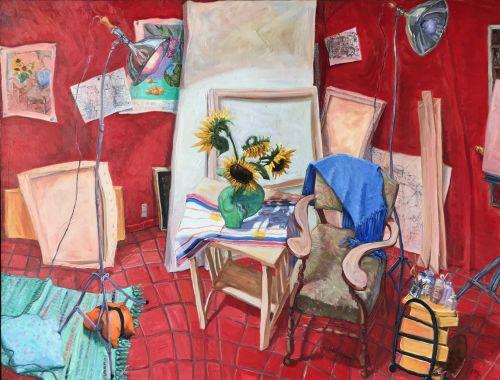 Sunflower Sitting