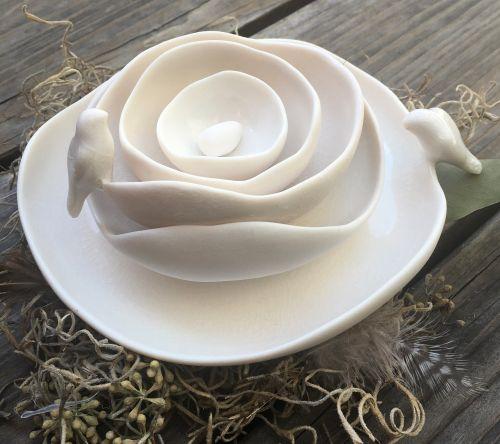 Nesting Bowls w/Birds