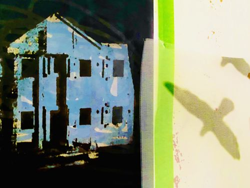 Blue House /Geen Stripe