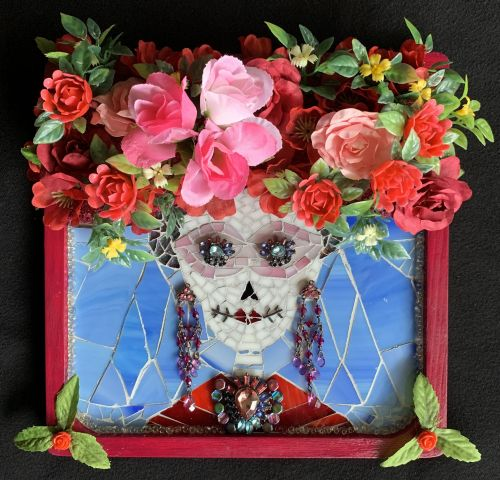 Day of The Dead Collection: Beautiful Flower Crown: Polish Tradition with a Contemporary Twist (8 of 12 mosaics)