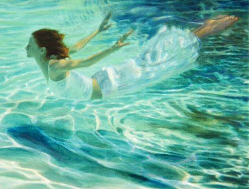 Mermaid in White