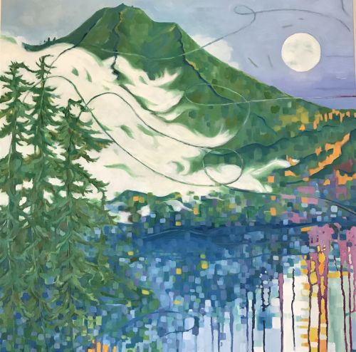 Blue Moon, October Evening, Mt Tamalpais