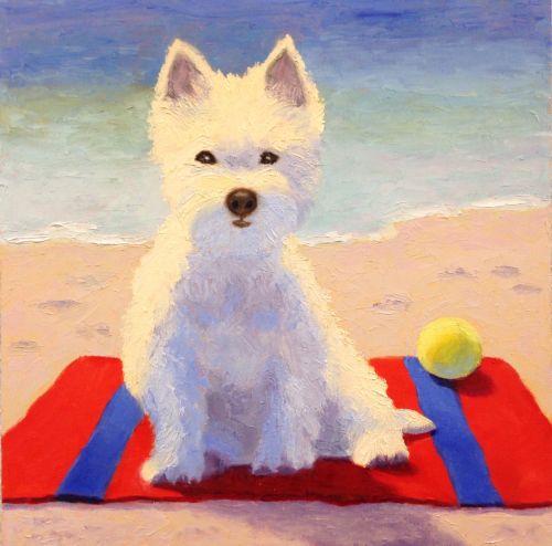 Westie at the Beach