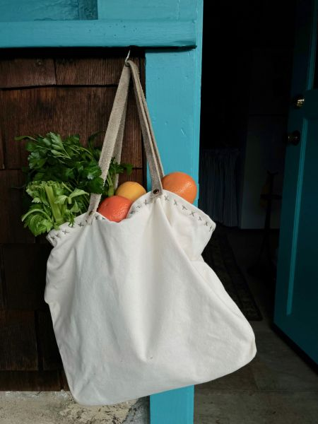 natural canvas origami bag