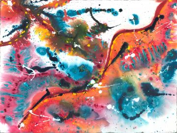 Spontaneous Painting Wet-Into-Wet: Watercolor and Fluid Acrylic
